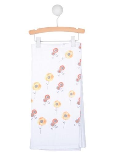 Cigit Cıgıt Sarı Çiçek Tek Kat Muslin Bebek  Battaniye Renkli